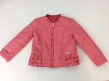 Mayoral Girls Padded Jacket, Coat, Size Age 6 116cm, Red, Reversible Vgc