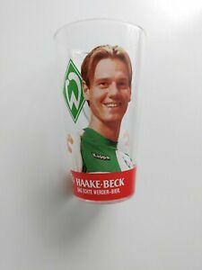 Werder Bremen Glas Tim Borowski, sehr guter Zustand