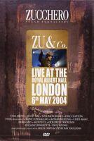 "ZUCCHERO ""ZU & CO-LIVE AT THE ROYAL ALBERT HALL""DVD NEU"