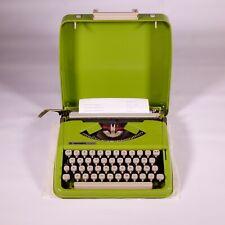 1967 vintage hermes baby rocket typewriter manual green portable case working
