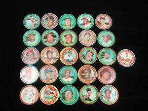 Lot of 26 Different 1971 Topps Baseball Coins - VG-EX