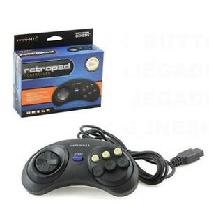 High Quality Megadrive Controller Wired 6 Button RetroPad Gaming Accessories