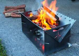 Fire Pit Flat Pack 600mm long Firepit, Campfire Portable Flat Pack Heavy Duty