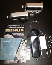 MINOX B VINTAGE SUBMINIATURE SPY CAMERA WITH ACCESSORIES AND TRIPOD