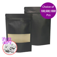 55x85in Double Side Black Matte Paper Stand Up Zip Lock Bag Withwindowampdesiccant