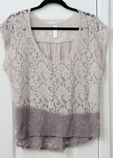 Women's size 2X mauve lace sleeveless top by Love Appall NWT