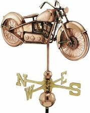 Good Directions Motorcycle w/ Arrow Weathervane - Polished Copper