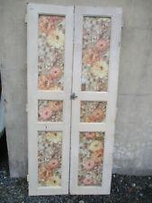 paire de porte de placard ancien en sapin.