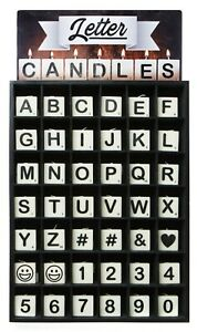 Letter Candles Make Your Own Word Message Alphabet Number Personalised Home Gift
