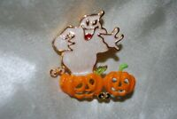 Ghost Pumpkin Pin Halloween Jack O Lantern Spooks Ghouls Casper Trick Or Treat