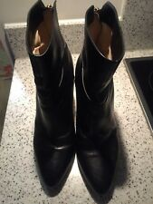 Jimmy Choo high heel black leather ankle boots