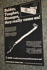 ★★1968 EASTERN TOOL E/T TRACTION BARS ORIGINAL ADVERTISEMENT AD 68 DRAG RACING