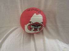 Red Claws Signed Red Spalding Basketball from Portland, Maine