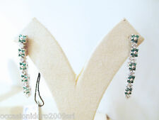 ORECCHINI smeraldi ct 0.65 diamanti ct 0.60 F vs oro bianco 18 kt € 1.464