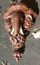 "Vintage Design Toscano Elephant Sculptural Wall Shelf - Retired - 11 1/2"" Tall"