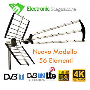 ANTENNA TV ESTERNA DIGITALE TERRESTRE UHF 56 ELEMENTI ALTO GUADAGNO LTE FULL HD
