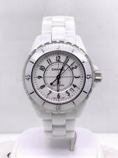 Chanel J12 Automatic 38mm White Ceramic & White Dial Date Ref. HO970