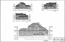 Full Set of two story 4 bedroom house plans 2,159 sq ft