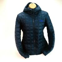 """Ladies The North Face Quilted Jacket Coat UK Medium Chest 40"""" BNWT Navy Blue"""