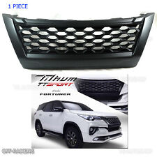 Net Front Matte Black Grill Grille Fit Toyota Fortuner 4x2 4x4 2015 2016 2017
