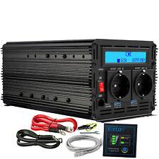 Inversor Convertidor 2000w 4000W 12v 220v Power Inverter Transformador LCD USB
