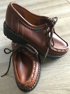 Brand New Brown /Tan Leather Sturdy Shoes Kickers Size 3 Ladies Or Unisex