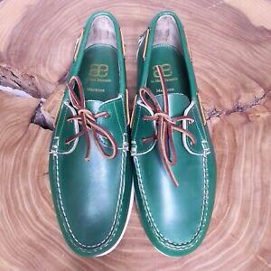 "Allen Edmonds ""MARITIME"" Mens Boat Shoes Sz 11 Green"