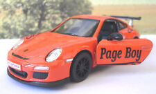 Wedding Day Gift Personalised Page Boy Usher Name Orange Porsche 911 Toy Car Box