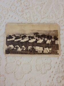 CDV Photo Elmira Civil War Prison Camp 1864 Unusual View Rare