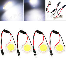 4X COB 15SMD LED T10 BA9S Festoon Dome Interior Reading Panel Light Bulb 12V 24V