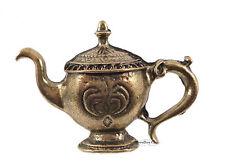 Retro Tea Party Pot Vintage Bronze Genie Lamp Costume Jewellery Adjustable Ring