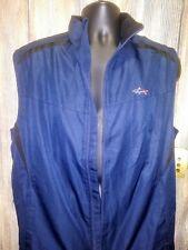 Men's Greg Norman Medium Navy Blue Golf Vest Windbreaker Nwt
