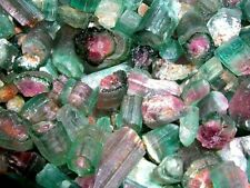 Watermelon Tourmaline crystal mixed grade Nigeria 20 carat lots 2-4 pieces