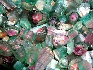 Watermelon Tourmaline crystal mixed grade Nigeria 20 carat lots 2-4 pieces