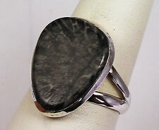BEAUTIFUL STINGRAY CORAL CUSTOM MADE RING STERLING SILVER