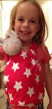 Baby Doll Toy Bear Carrier Perfect For Boys And Girls - Red With White Stars