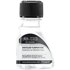 Winsor & Newton Artist Oil Painting Mediums Distilled Turpentine Solvent 75ml