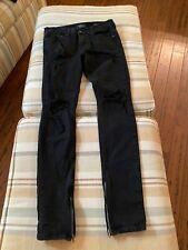 PACSUN - Men's Skinny Distressed Black Jeans - Comfort Stretch - Size 30x32