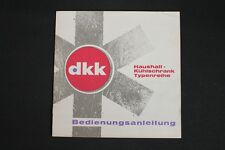 Old DDR instruction manual switch home refrigerators DKK