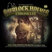 SHERLOCK HOLMES CHRONICLES - DAS VIER-PFEIFEN-PROBLEM FOLGE 58   CD NEW