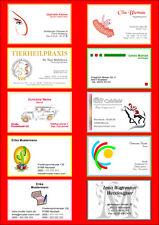 100 VISITENKARTEN, Ihre Design-Business Card-Vorlage schnell+TOP drucken