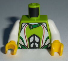 TORSO M019 Lego Male Lime World Racers Team Extreme Torso  NEW Yellow Hands