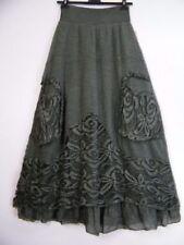 Gonne e minigonne da donna verde lunghezza lunghezza totale in cotone