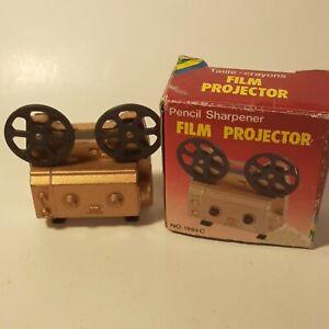 Antique Finished Miniature Gold Film Projector  Pencil Sharpener Metal Die-Cast