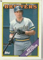 FREE SHIPPING-MINT-1988 Topps #465 Paul Molitor BREWERS PLUS BONUS CARDS