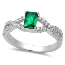 Tanzanite, Ruby, Green Emerald, Blue Sapphire .925 Sterling Silver Ring Sz 5-9