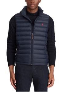 Polo Ralph Lauren Men's Down Pony Full Zip Packable Vest Navy Blue Sz 2XL NWT ⭐️