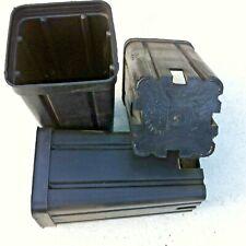 VASI PLASTICA QUADRATI cm  7x7x14 * L 0,60 - ANTISPIRALIZZ.  ITALIA - 10 VASI