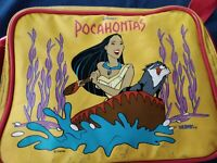 Vintage Disney Pocahontas Lunch Bag Box Thermos Brand Merlo Strap Zipper