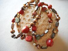 Three Silpada Stretch Tuscan Sun Coral Pearl Shell Bracelets B1695   RE4014